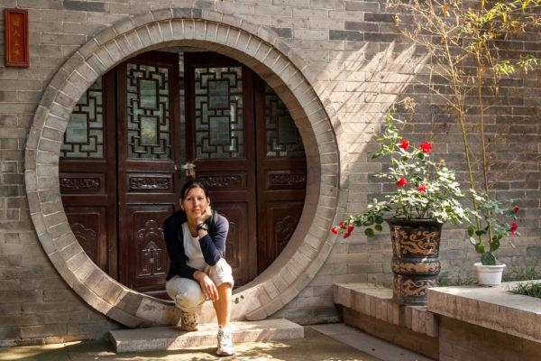 Eingang, Tür, Xian, China
