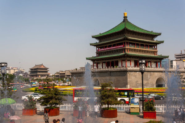 Xian, China, Bell tower, Drum tower