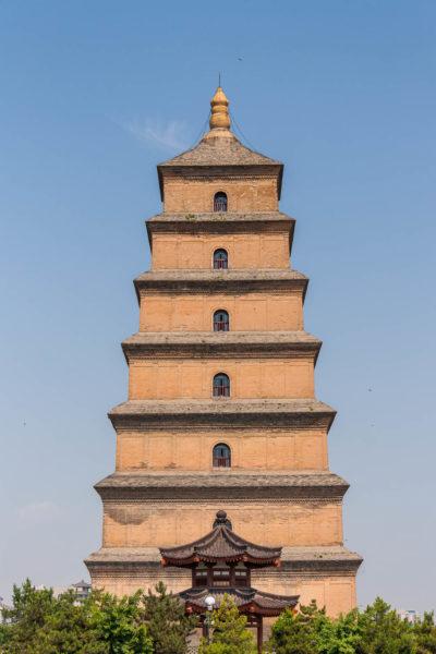 Chine, Xian, Giant Wild Goose Pagoda