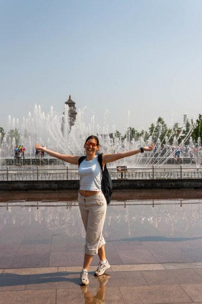 China, Xian, Giant Wild Goose Pagoda