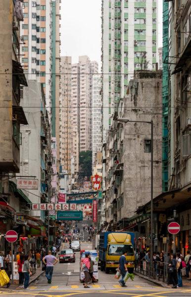 Hongkong, Seitenstraße, Hochhäuser