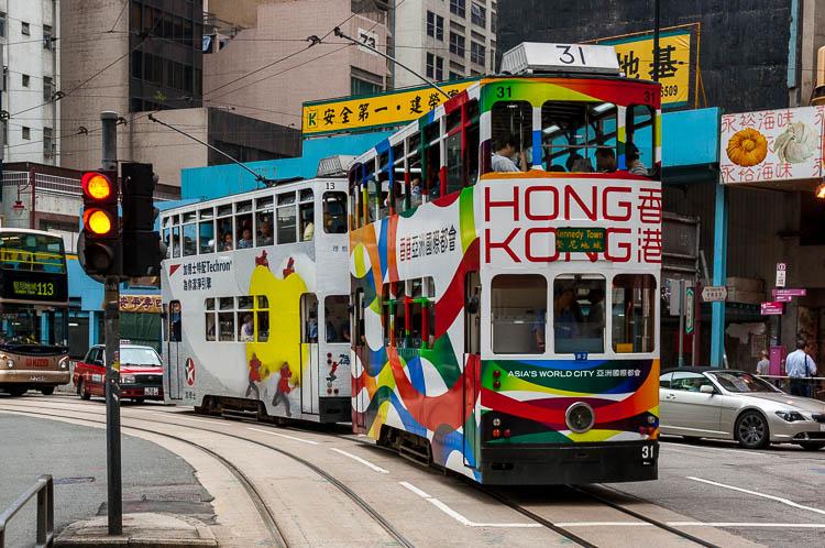 Hongkong, Straßenbahn