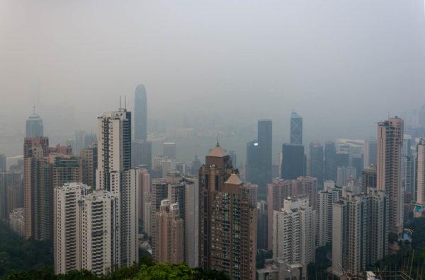 Hongkong, Victoria's Peak, Smog