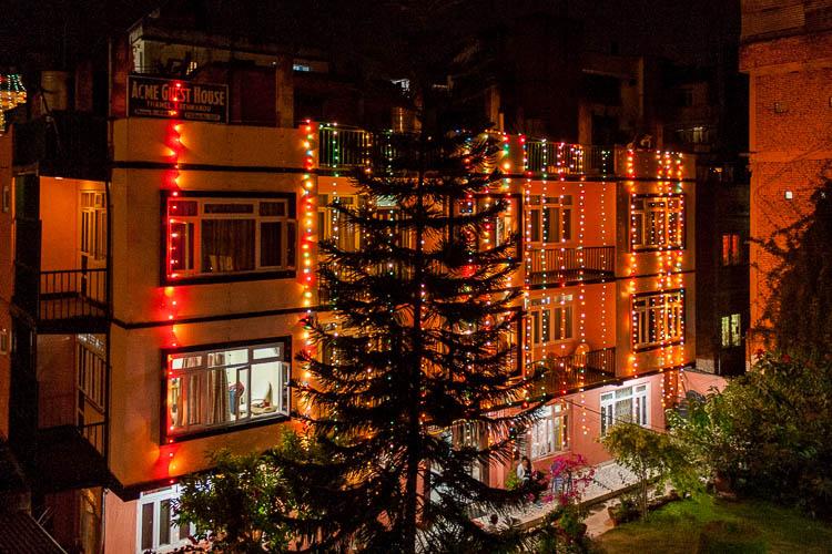 Diwali, Häuser, Nacht