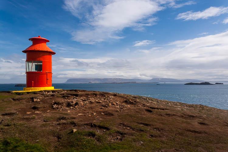 Island, Leuchtturm, rot