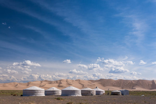 Mongolei, Jurte, Düne, Gobi, Wüste