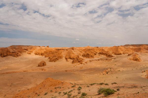 Flaming cliffs, Gobi, Wüste, Mongolei, Bajandsag