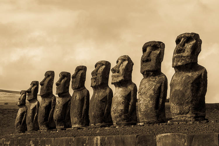 Steinköpfe, Rapa Nui, Osterinsel