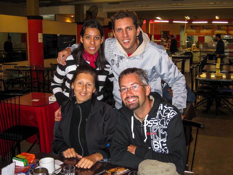 Pedro, Gabriela, ich und Kriszta