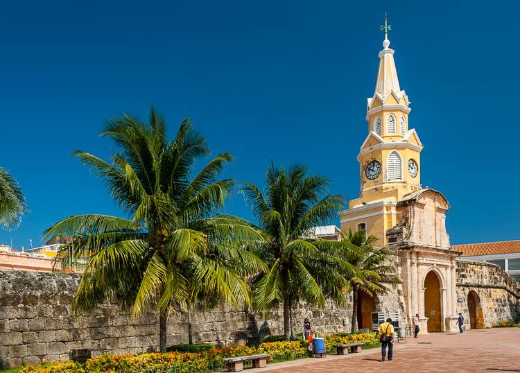 Cartagena, Tor, Altstadt, Kolumbien
