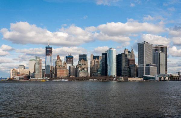 New York, Skyline, Staten Island Ferry
