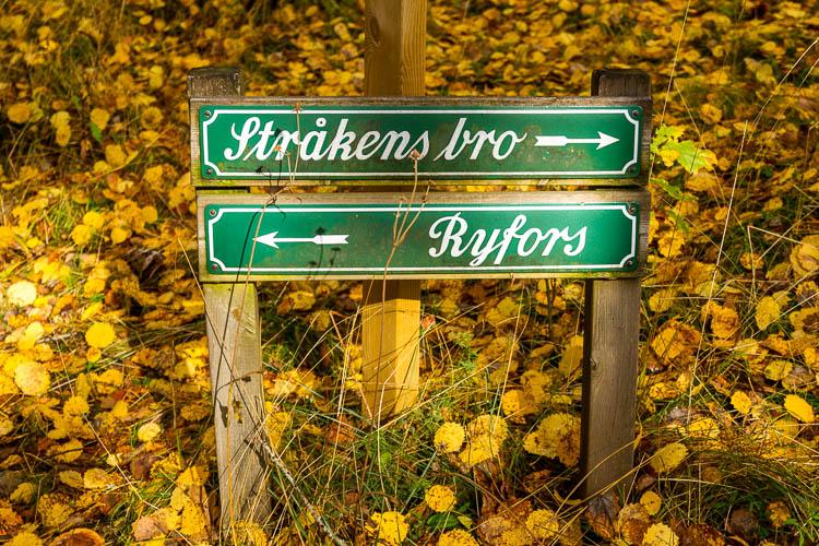 Herbst, Schweden, Wegzeichen