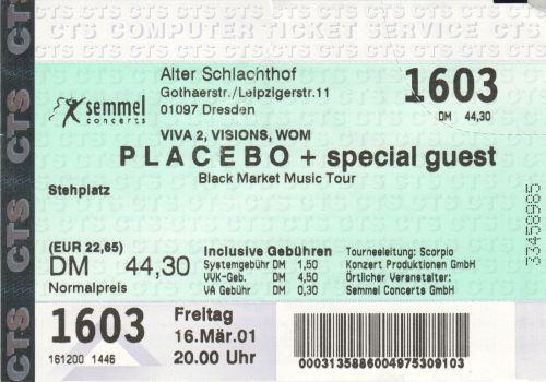 2001 Placebo Dresden