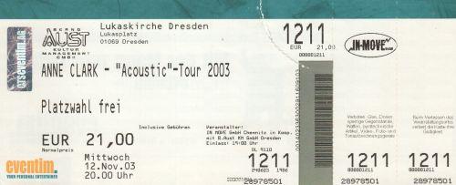 2003 Anne Clark Dresden