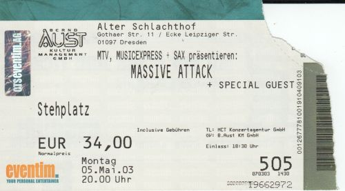 2003 Massive Attack Dresden