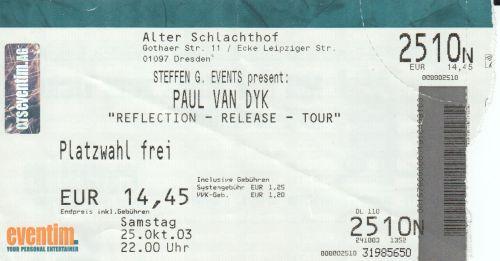 2003 Paul van Dyk Dresden