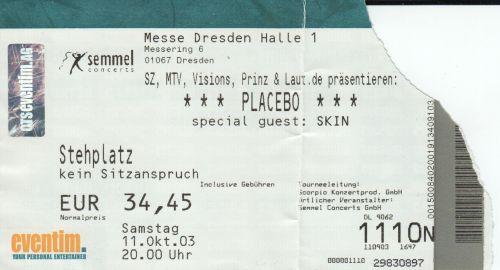 2003 Placebo Dresden