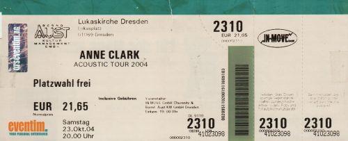 2004 Anne Clark Dresden