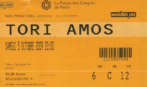 2009 Tori Amos Paris