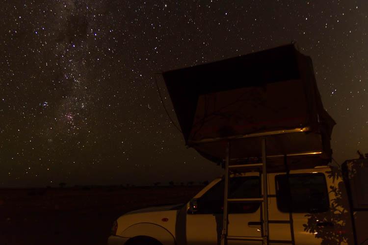 Nachthimmel über Afrika