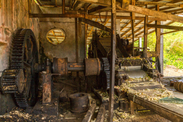 Rumherstellung, Zuckerrohrpresse