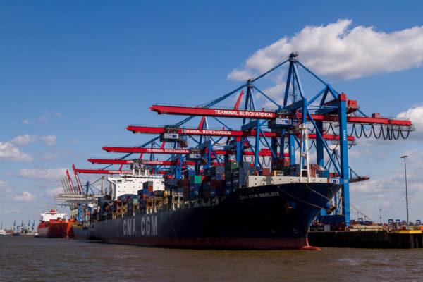 Hafenrundfahrt, Hamburg, Containerschiff