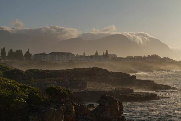 Hermanus, Morgen, Nebel, Südafrika