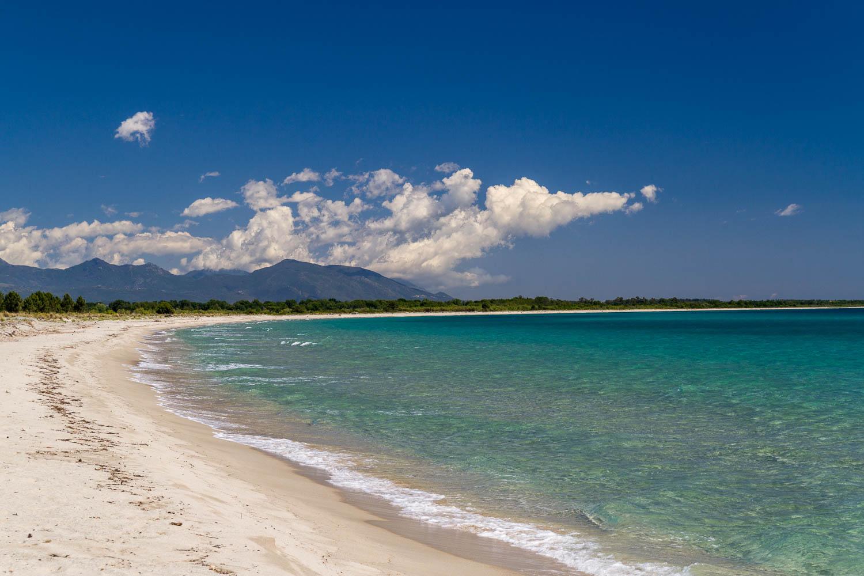 Ein einsamer Strand - nur für uns