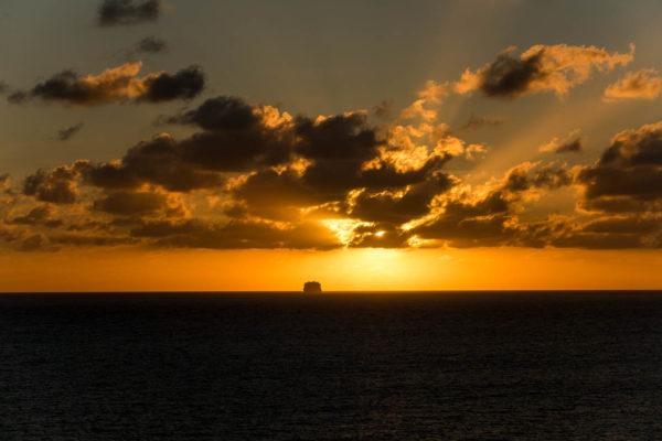 Kreuzfahrt, Sonnenuntergang
