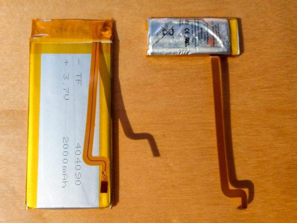 iPod classic, Batterie