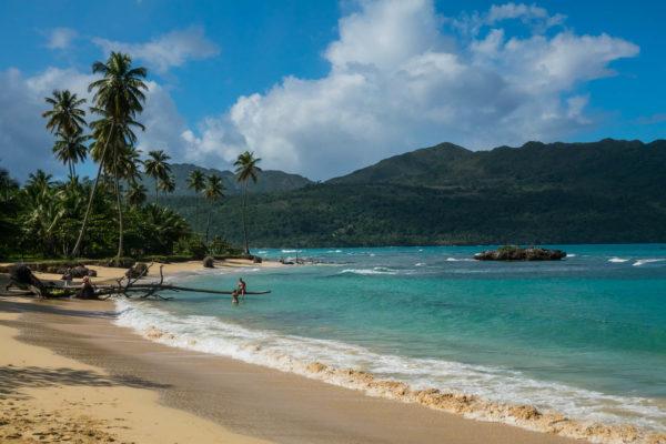 Dominikanische Republik, Playa Rincon, Palmen, Strand