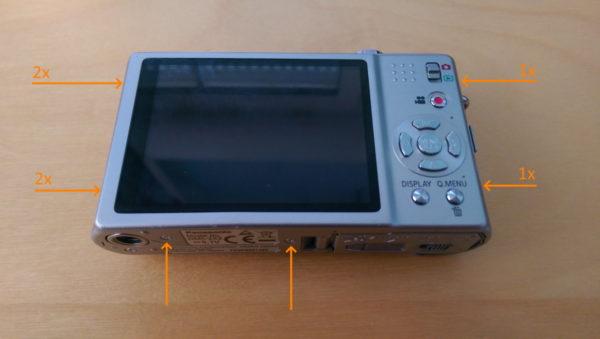 Lumix DMC-ZX3, Gehäuse öffnen