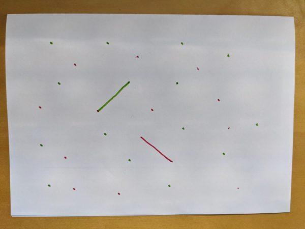 Strategiespiel, Punkte, Linien, Papier