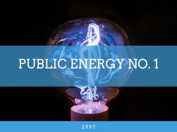 Public energy No. 1, Blog Challenge