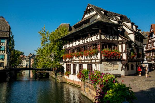 Fachwerkhaus, Fluss, Straßburg, Frankreich