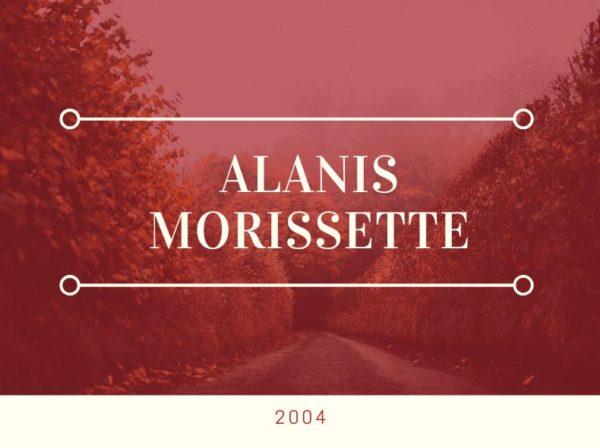 Alanis Morissette, Blog Challenge