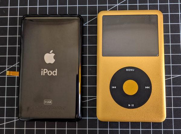 iPod classic Gold, Schwarz