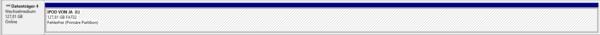 Datenträgerverwaltung, iPod