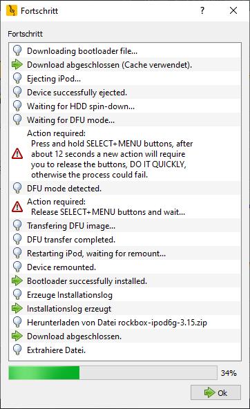 Rockbox Installation, Installation Software