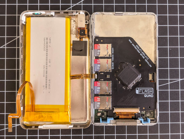 iPod classic, Umbau, SD-Karte, 2000mAh Akku