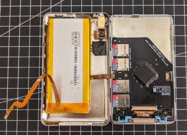 iPod classic, Umbau, SD-Karte, 2200mAh Akku